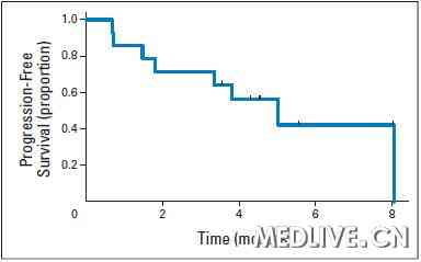 抗HER-2靶向药物治疗的Ⅳ期肺癌患者的无病生存期